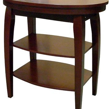 Cherry Wood End Table Accent Table Magazine Table