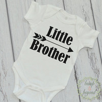 Little Brother Shirt Sibling Shirt Little Brother Bodysuit Little Brother Baby Announcement Shirt Hipster Boy Clothes 108