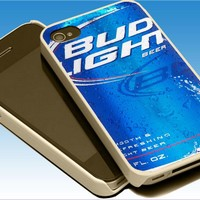 bud light beer For Apple Phone, IPhone 4/4S Case, IPhone 5 Case, Cover Plastic