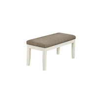 """Pearl White/Beige Fabric 45""""L Bench"""