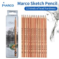 12 Pieces/Box Marco's Sketch Drawing Pencil Set Non-toxic Pencils
