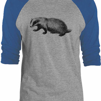 Big Texas Western Badger 3/4-Sleeve Raglan Baseball T-Shirt