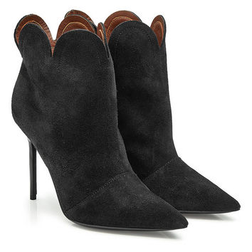 Suede Ankle Boots - Burberry | WOMEN | US STYLEBOP.COM
