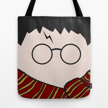 Harry Potter Minimalist Tote Bag by Nephie