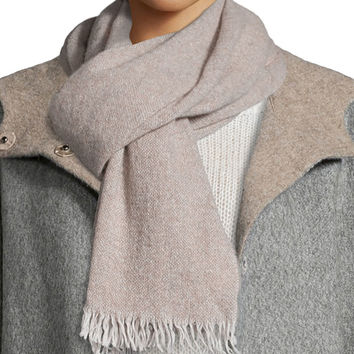 Reclaimed Cashmere-Blend Scarf, Size: ONE SIZE, DEEP SEASALT - Eileen Fisher