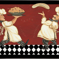 "Simple Elegance - ""The Big MAT"" - Designer Chef Kitchen Comfort Mat - Size: 18"" x 30''  - (Pizza Pasta Chefs)"