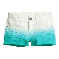 H&M - Twill Shorts - Turquoise - Kids