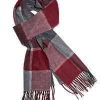 Old Town Plaid - Gray/Burgundy/Black (Scarf) | Ties, Bow Ties, and Pocket Squares | The Tie Bar