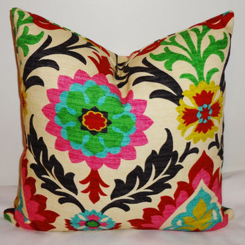 Waverly Santa Maria Desert Flower Pillow Cover Decorative Pillow Throw Pillow 16x16