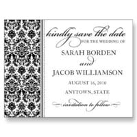 Damask Save the Date Card- Customize it! Post Cards from Zazzle.com
