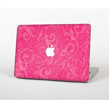 The Subtle Pink Floral Laced Skin Set for the Apple MacBook Pro 15""