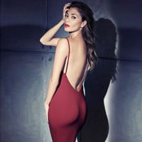 Sexy backless tight  Dress KL0114BJ