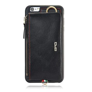 Genuine Leather Casual iPhone7/7Plus/6/6s/6Plus/6sPlus Phone Case Wallet Card Holder For Men