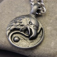 Mens Eagle Necklace | wirenwhimsy - Jewelry on ArtFire