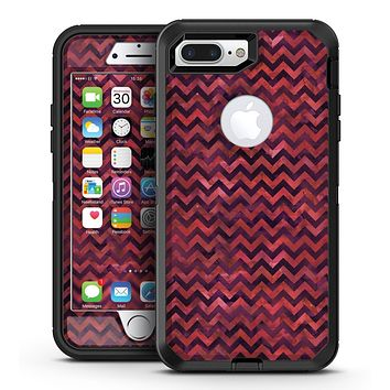 Wine Basic Watercolor Chevron Pattern - iPhone 7 Plus/8 Plus OtterBox Case & Skin Kits