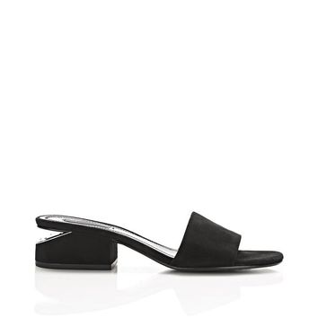 LOU SUEDE SANDAL WITH RHODIUM | FLATS | Alexander Wang Official Site