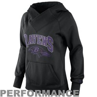Nike Baltimore Ravens Ladies Wildcard Pullover Performance Hoodie - Black