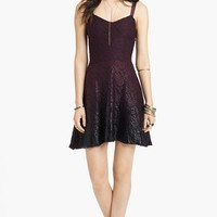 Free People Foiled Ombré Lace Fit & Flare Dress | Nordstrom
