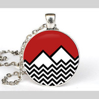 Twin Peaks Cabochon Necklace