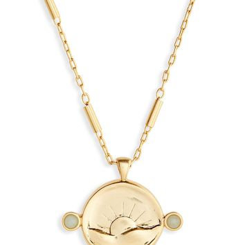 Madewell Etched Sun Necklace | Nordstrom