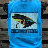 Backwoods South Waters Fishing Lure Bright Comfort Colors Unisex T Shirt Tank Top