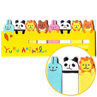 Panda Bunny Lion Animal Themed Memo Pad Post-it Index Tab Sticky Notes Tabs | Cute Animal Themed Scrapbook Supplies