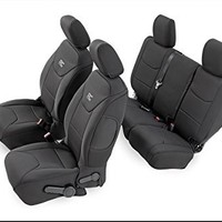 Rough Country - 90012 - Black Neoprene Seat Cover Set (Front & Rear)