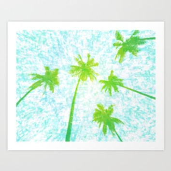 Tropical Paradise Art Prints Collection By Frodomixa | Society6