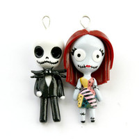 Jack and Sally Miniature Sculptures by WonderlandContraband