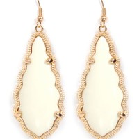 Ivory Teardrop Dangle Earring | Monday Dress Boutique