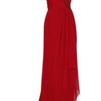Marchesa Asymmetric silk-chiffon gown - 50% Off Now at THE OUTNET