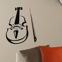 Wall Decal Vinyl Sticker Music Violin Decor Sb398
