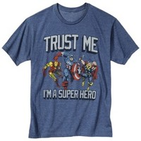 Men's Avengers Trust Issues Graphic Tee - Blue