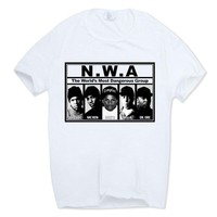 Men NWA Straight Outta Compton Hip-Hop Memorial t-Shirt