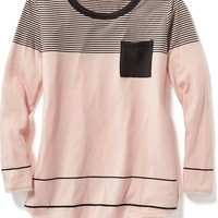 Old Navy Striped Rounded Hem Tee