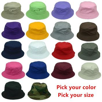 New Women Men Bucket Hat Cap Fishing Boonie Brim visor Sun Safari Summer Camping
