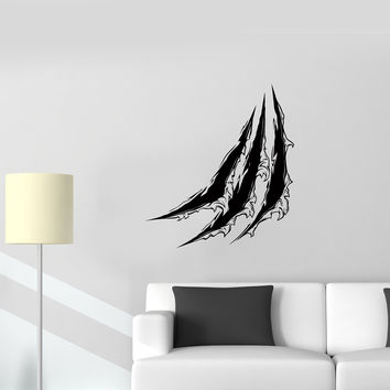 Wall Decal Scratches Pattern Claws Track Seam Vinyl Sticker Unique Gift (ed599)