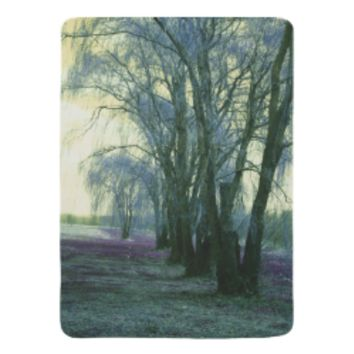 Line of weeping willow trees baby blankets
