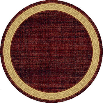 Dynamic Rugs Yazd Red Modern Round Area Rug