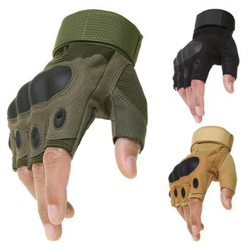 2017 Brand Tactical Fingerless Gloves Military Army Shooting Paintball Airsoft Carbon Knuckle Half Finger Gloves