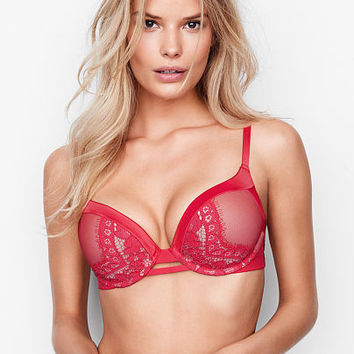 Satin & Lace Add-2-Cups Push-Up Bra - Bombshell - Victoria's Secret