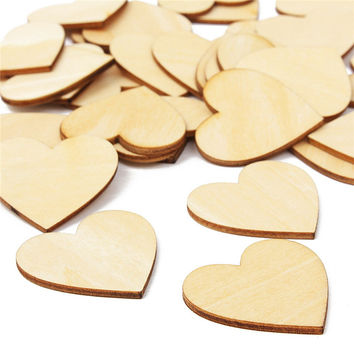 Promotion 30pcs Laser Cut MDF Wooden Hearts Shape Decorations Craft Tags Embellishments Tool Wood Craft Household decor