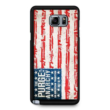 The Purge Anarchy Flag Samsung Galaxy Note 5 Case