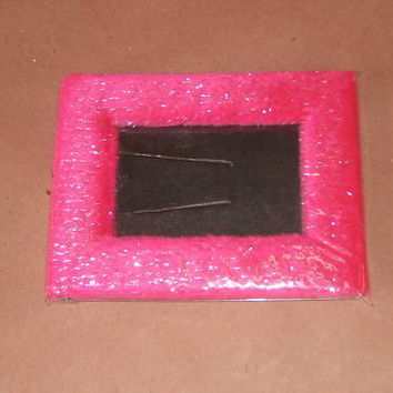 Colorful Fuzzy Picture Frame 3in x 5in Pink -- New