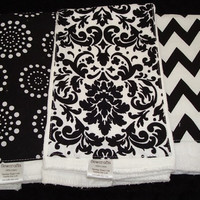 Boutique Style Burp Cloths - Set of 3 6-ply Burp Cloths - Perfect Gift for a New Mom with Baby Girl or Baby Boy
