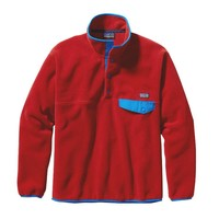 Patagonia Men's Synchilla® Recycled Snap-T® Fleece Pullover | Cochineal Red