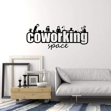 Coworking Space Vinyl Wall Decal Workplace Office Freelance Stickers Mural (ig5318)