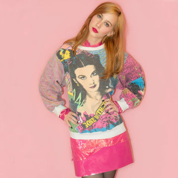 Vintage All Over Print Gone With the Wind Sweatshirt 80s Novelty Oversized Womens XL XXL