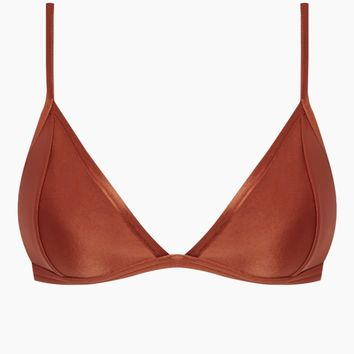 Taping Triangle Bikini Top - Mocca Orange