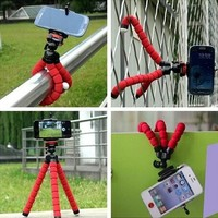 Arrive Car Phone Holder Flexible Octopus Bracket Selfie Stand Mount for iPhone 4 5 6 Samsung LG Android pau gopro